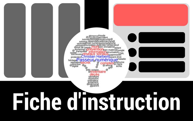 Mort numérique -Fiche d'instruction Twitter - Pour modification et suppression de contenus